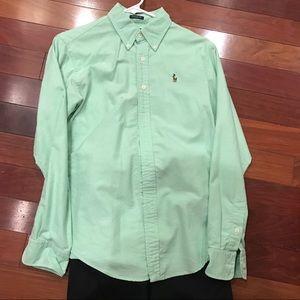 Ralph Lauren Button Down Shirt- Size 6 EUC